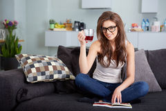 Leasure and home concept Stock Photography