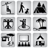 Leasure_icons Imagens de Stock