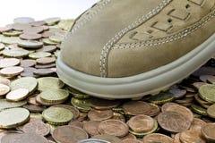 leasure rzemienny pieniądze buta odprowadzenie obraz royalty free