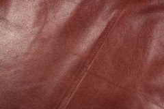 Leather 1. Peace of red leather closeup shot Stock Photo