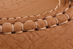Leather. Brown leather texture.cover background Royalty Free Stock Photography
