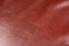 Leather 2. Peace of red leather closeup shot Royalty Free Stock Photography