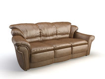Leather 3d sofa Stock Images