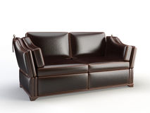 Leather 3d sofa Stock Image