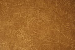 Leather. Brown upholstery of furniture royalty free stock photo