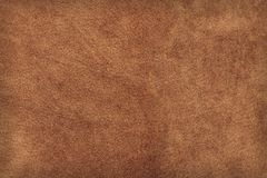 Leather. High-res leather texture. (Brown suede / buckskin Royalty Free Stock Photos