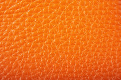 Leather. Close up of orange leather texture Royalty Free Stock Image