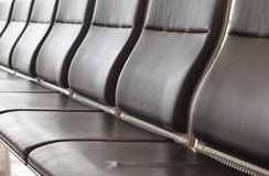 Leather airport seat Royalty Free Stock Images