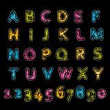 Leather alphabet Royalty Free Stock Photography