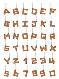 Leather alphabet with chain Royalty Free Stock Image