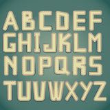 Leather alphabet with stitched borders Stock Images