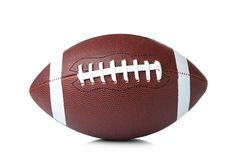 Leather American football ball. On white background stock photography