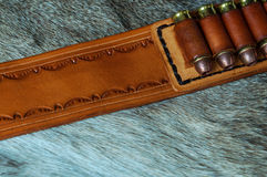 Leather ammo belt Royalty Free Stock Images