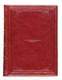 Leather Antique book cover with engraved Royalty Free Stock Photos