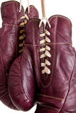 Leather, antique boxing gloves Royalty Free Stock Image