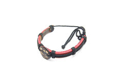 Leather arm bracelet Stock Photo