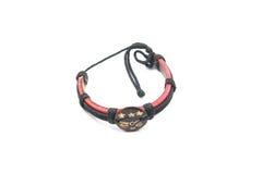 Leather arm bracelet Royalty Free Stock Photography