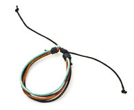 Leather arm bracelet Stock Images