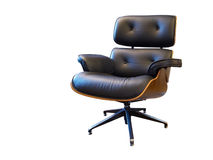 Leather arm chair Stock Photo