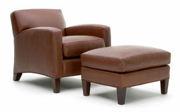 Leather arm chair Royalty Free Stock Images