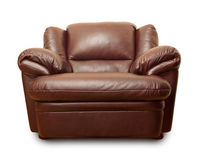 Leather armchair royalty free stock photography