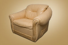 Leather armchair Royalty Free Stock Images