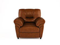 Leather armchair Stock Photo