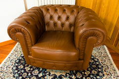 Leather armchair Stock Images