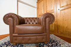 Leather armchair Stock Image