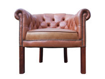 Leather armchair Stock Photos