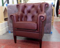 Leather armchair. royalty free stock images