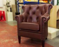 Leather armchair. Royalty Free Stock Photos