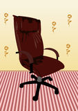 Leather armchair of director Royalty Free Stock Photos
