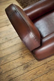 Leather armchair in a French club Royalty Free Stock Photo