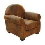 Leather armchair Stock Photo