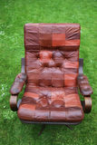 Leather armchair retro Royalty Free Stock Image