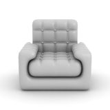 Leather armchair on a white background. Royalty Free Stock Photos