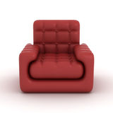 Leather armchair on a white background. Royalty Free Stock Image
