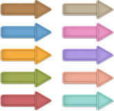 Leather arrows Royalty Free Stock Images