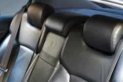 Leather back car seats Royalty Free Stock Photo