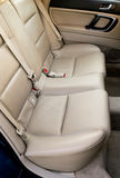 Leather back car seats Royalty Free Stock Photos