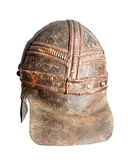 Leather back protection for warrior helmet Royalty Free Stock Photography