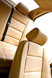 Leather back seat in car Royalty Free Stock Images