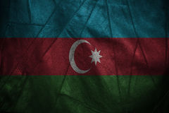 Leather background with blending  Azerbaijan flag Royalty Free Stock Photography
