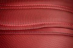Leather background. Car interior. Macro Stock Image