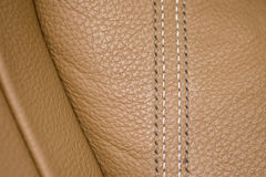 Leather background. Car leather seat detail. Leather background. Macro Royalty Free Stock Photo