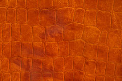 Leather background (close-up). Brown leather background, material texture Stock Photo