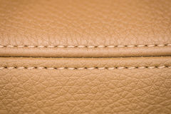 Leather background. Detail of car seat. Macro Royalty Free Stock Image