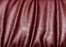 Leather background. Red Brown textured leather background Stock Photos