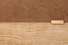 Leather background with seam Stock Image